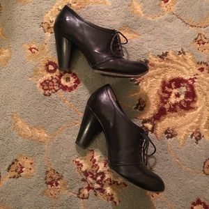 Costume National black lace up heels